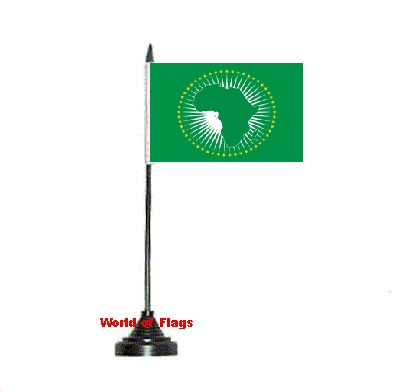 African Union Table Flag