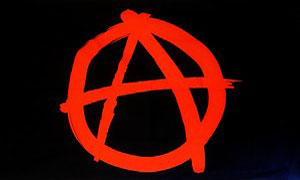 Anarchy Flag Red and Black