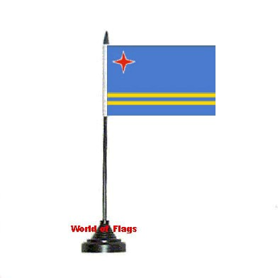 Aruba Table Flag
