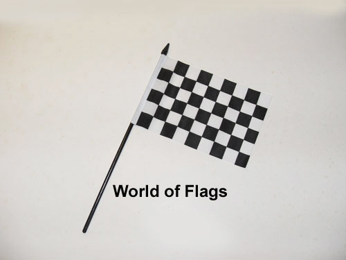 Black and White Checkered Hand Flag