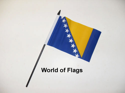 Bosnia and Herzegovina Hand Flag