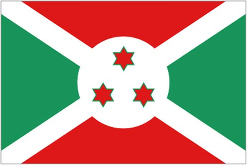 2ft by 3ft Burundi Flag