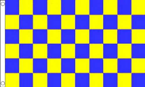 Royal Blue and Yellow Checkered Flag