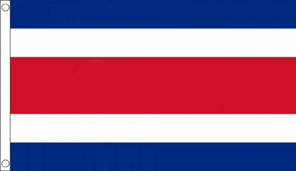 Costa Rica Flag NO CREST Only A Few Left