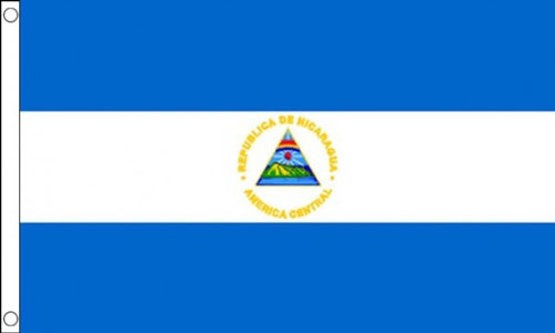 2ft by 3ft Nicaragua Flag