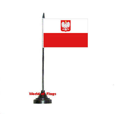 Poland Eagle Table Flag