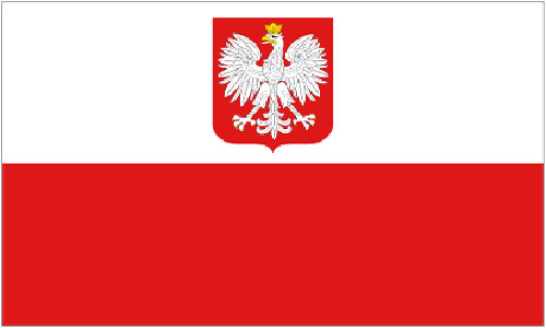2ft by 3ft Poland Eagle Flag