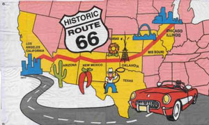 Route 66 Flag Map of USA Special Offer