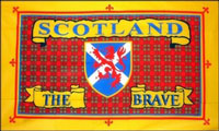 2ft by 3ft Scotland The Brave Flag Rugby World Cup Offer