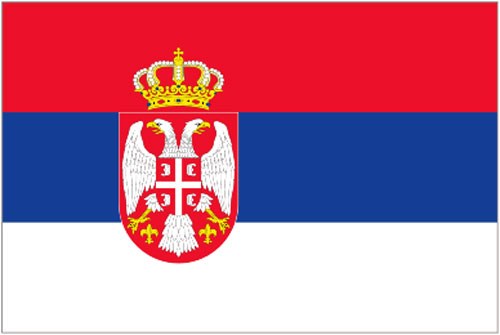 2ft by 3ft Serbia Flag