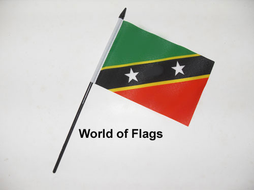 St Kitts and Nevis Hand Flag