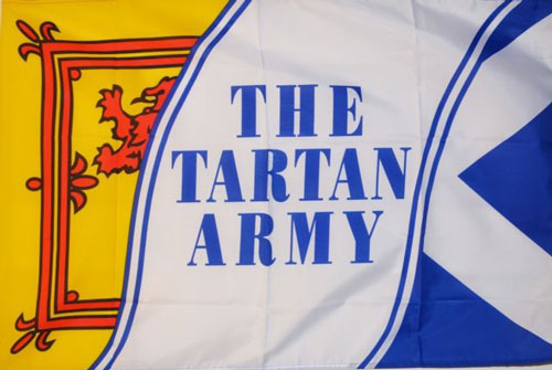 2ft by 3ft Tartan Army Flag