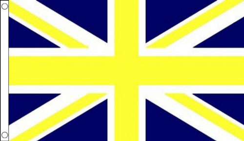 Blue and Yellow Union Jack Flag