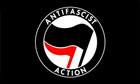 Anti Fascist Action Flag