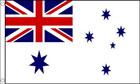 5ft by 8ft Australian White Ensign Flag