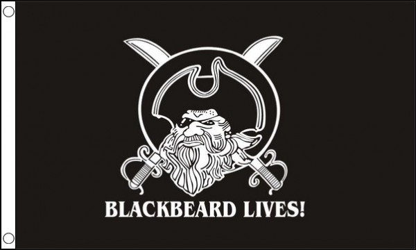Blackbeard Lives Pirate Flag ONLY A FEW LEFT