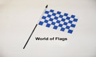 Royal Blue and White Checkered Hand Flag