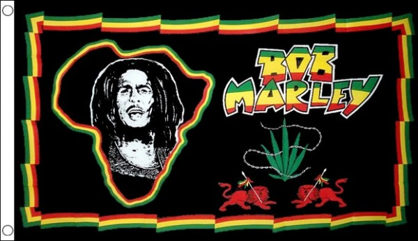 Bob Marley Africa Map Flag