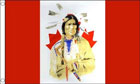 Canadian Indian Flag Only A Few Left