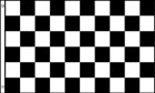 2ft by 3ft Black and White Checkered Flag