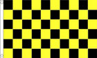 2ft by 3ft Black and Yellow Checkered Flag