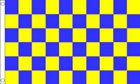 2ft by 3ft Royal Blue and Yellow Checkered Flag