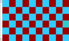 Sky Blue and Claret Maroon Checkered Flag