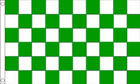 2ft by 3ft Green and White Checkered Flag