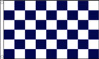 2ft by 3ft Navy Blue and White Checkered Flag