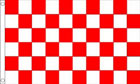 2ft by 3ft Red and White Checkered Flag