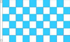 Sky Blue and White Checkered Flags