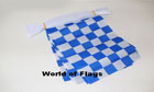 Royal Blue and White Checkered Bunting 9m