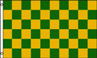 2ft by 3ft Green and Yellow Check Flag