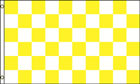 White and Yellow Gold Checkered Flag