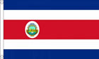 2ft by 3ft Costa Rica Flag