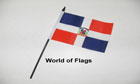 Dominican Republic Hand Flag