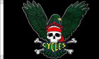 Eagle Cycles Skull Flag