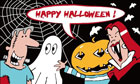 Happy Halloween Flag Cartoon Monsters Only A Few Left