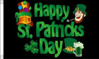 2ft by 3ft Happy St Patricks Day Flag