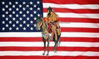USA Indian on a Horse Flag
