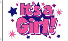 Its A Girl Flag with Stars