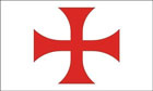 Red Cross of the Knights Templar Flag