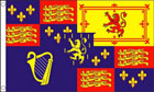 Royal Banner Flag 1689 to 1702 William and Mary