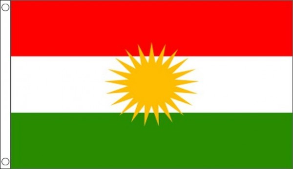 2ft by 3ft Kurdistan Flag