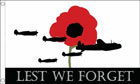 Lest We Forget RAF Flag