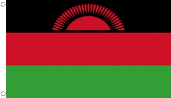 2ft by 3ft Malawi Flag Red Sun Flag