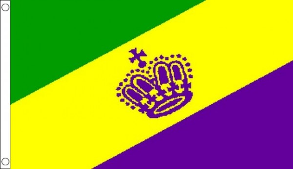 Mardi Gras Flag Only A Few Left