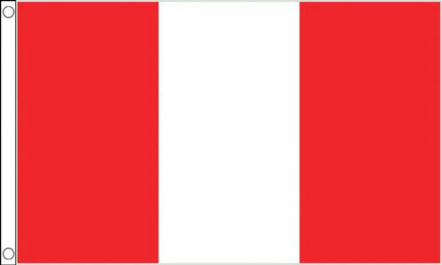 2ft by 3ft Peru Flag NO Crest Only a Few Left