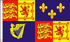 Royal Banner Flag 1707 to 1714 Queen Anne Flag