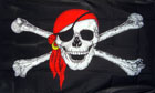 2ft by 3ft Red Bandana Pirate Flag